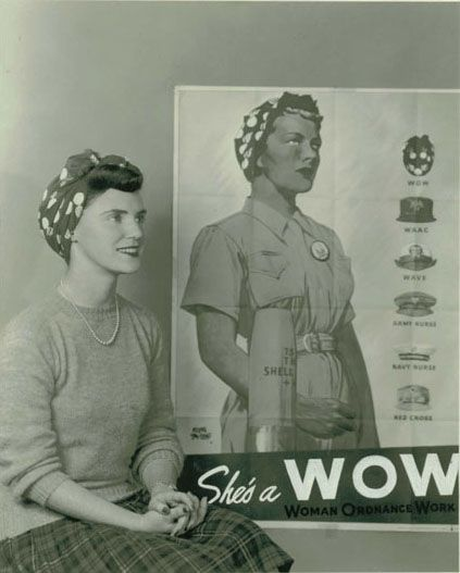 She's a WOW. #vintage #1940s #WW2 #woman