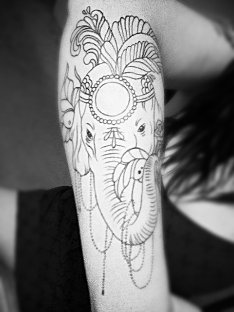 Elephant Tattoo .. Work in Progress