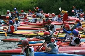 The Liffey Descent, the annual canoe race on the river Liffey in Dublin, Ireland. Enjoy the race and a Guinness after at Temple Bar in true Irish spirit!  #thekayakacademy https://facebook.com/liffeydescent?id=203452216342116&refsrc=http%3A%