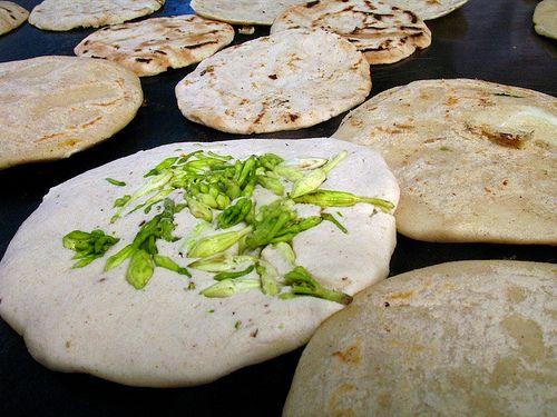 Guatemalan Cuisine: Loroco and Cheese Pupusas