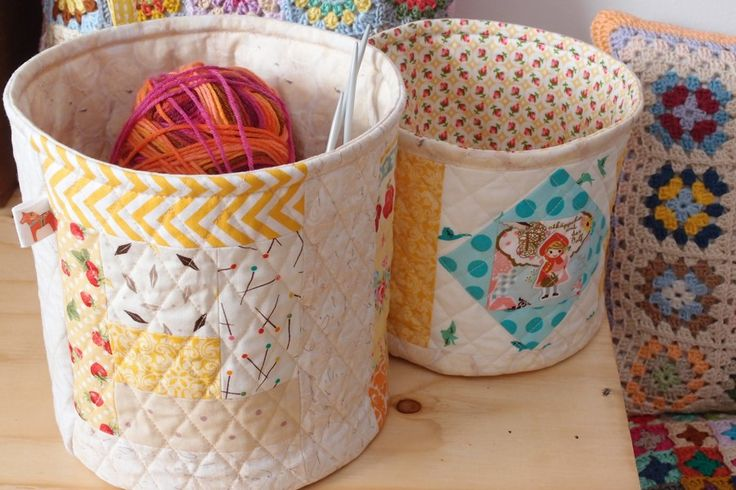 Fabric baskets  www.vjahodovce.blogspot.com