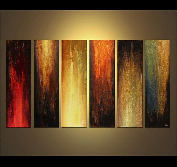 "Original Contemporary Abstract Acrylic Painting on Canvas by Osnat - MADE-TO-ORDER - 72""x36"" on Etsy, $1,429.00"