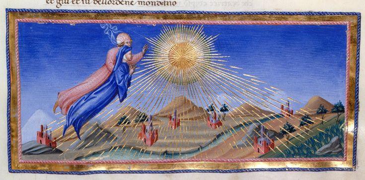 Heaven of the Sun - Dante Alighieri Title Divina Commedia Origin Italy, N. (Tuscany, Siena?) Date between 1444 and c. 1450 Language Italian http://www.bl.uk/catalogues/illuminatedmanuscripts/record.asp?MSID=6468&CollID=58&NStart=36
