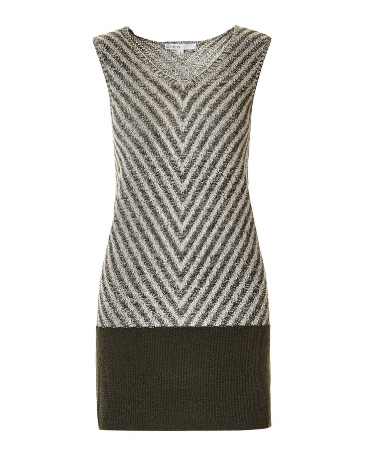 Sleeveless Tunic SweaterSleeveless Tunic Sweater, Olive/Stone