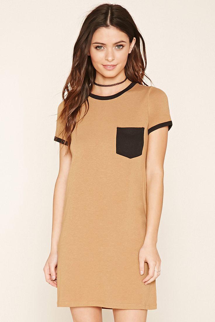 Pocket Ringer T-Shirt Dress