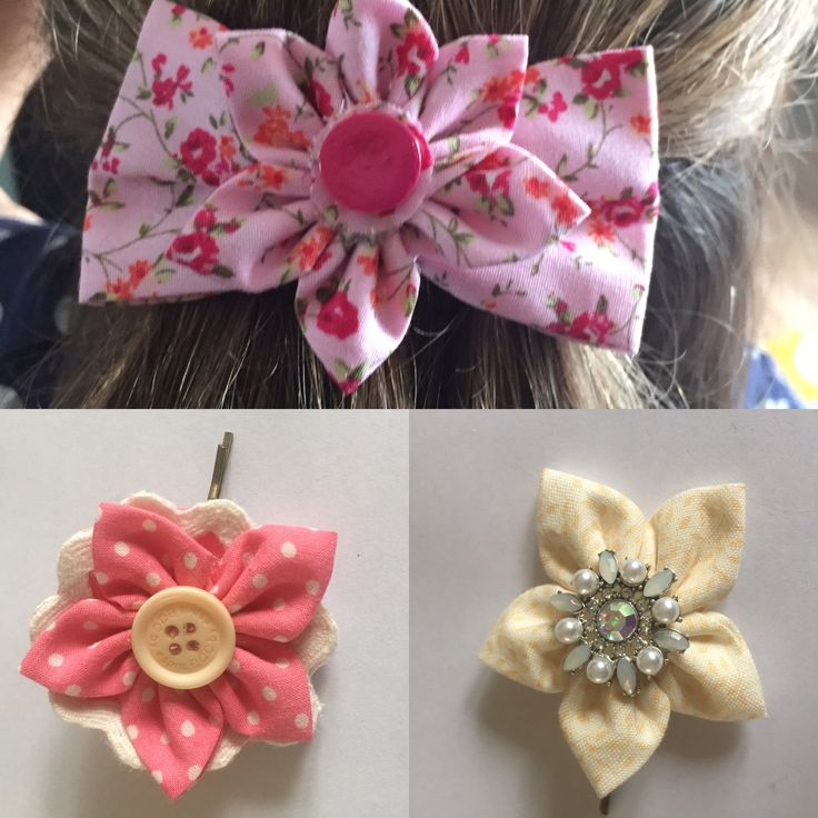 Handmade hair clips and bows #facebook HTTPS://www.facebook.com/jarzoflove/
