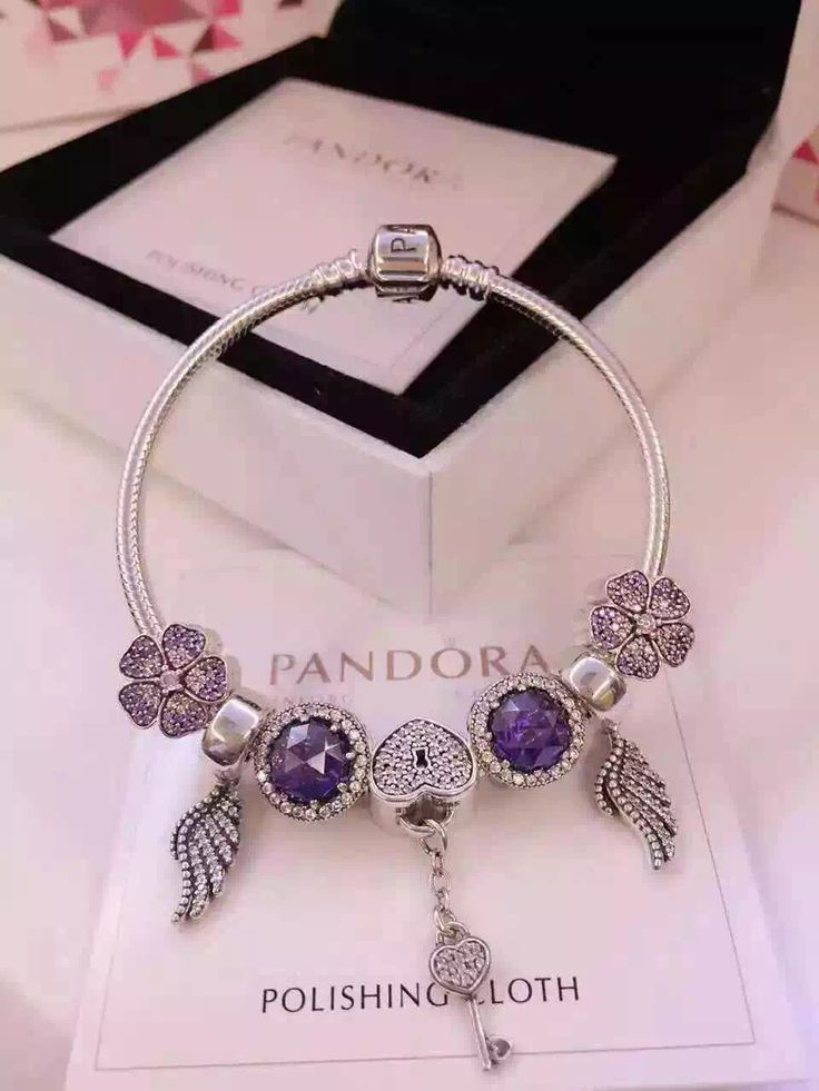 199 pandora charm bracelet purple hot sale