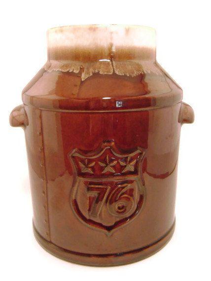 Vintage Mccoy 1976 Bicentennial Milk Can Cookie Jar