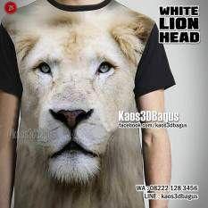 kaos-singa-kaos-kepala-singa-singa-putih-fp-white-lion-head-kaos3d