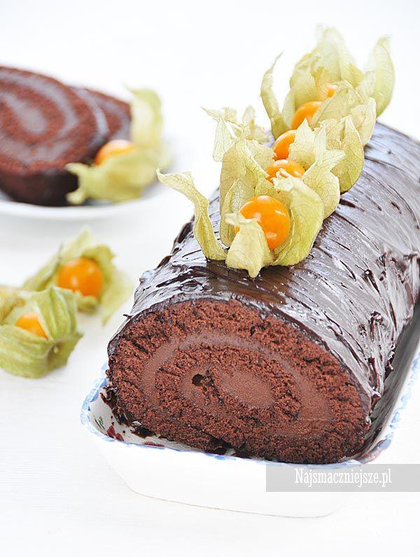 Rolada kakaowa z kremem czekoladowym