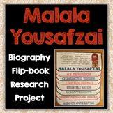 Malala Yousafzai Biography Research Project, Flip Book, Fa