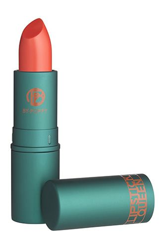 """If you've met Lipstick Queen founder Poppy King, you know animal print is one of her signature obsessions. Now, she has created Jungle Queen Lipstick, an on-trend, semi-sheer bright coral shade with a hint of luminescence that flatters all complexions and will complement your spring wardrobe perfectly."" Lipstick Queen Jungle Queen"