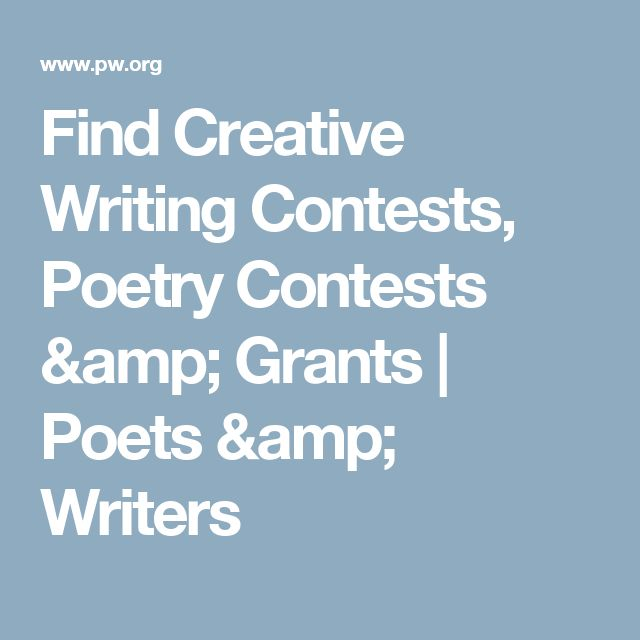 Creative writing contests for college students 2012