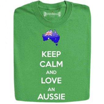 Funny Keep Calm and Love an Aussie Slogan T Shirts And Hoodies