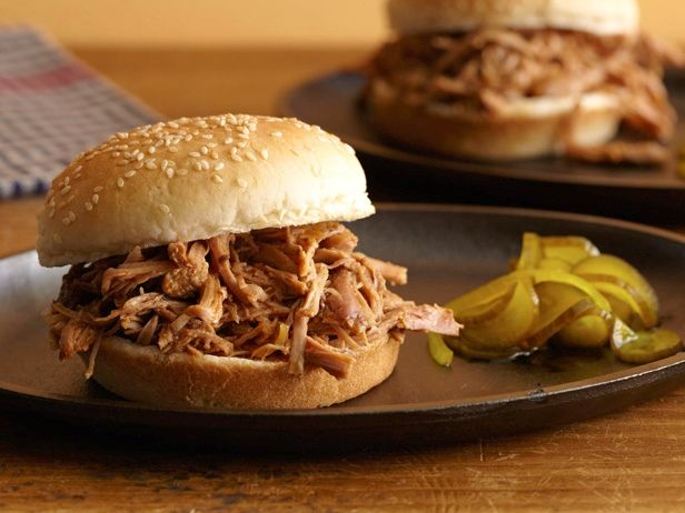 Slow Cooker Pulled Turkey Sandwiches Recipe : Food Network Kitchens : Food Network - FoodNetwork.com