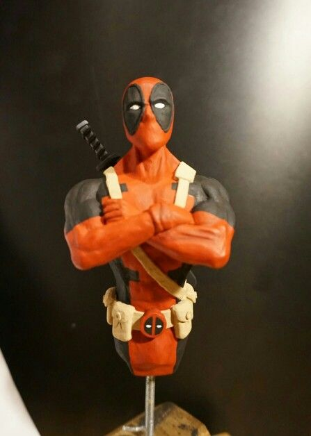 #deadpool #marvelcomic #sculpture  #rogueroosterstudio