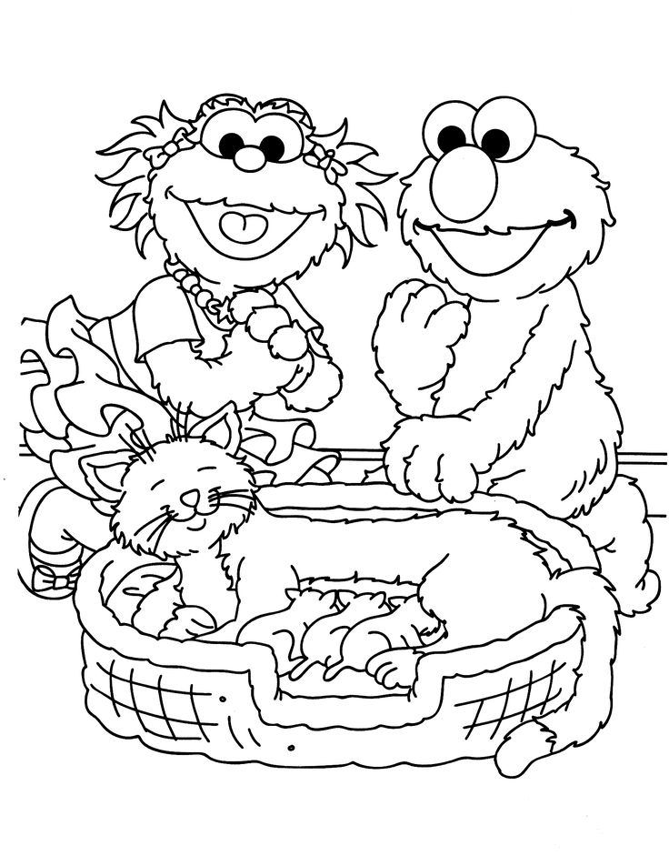 seaseme street coloring pages - photo#17