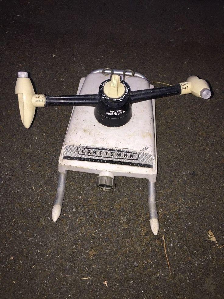 Vintage Craftsman Metal Adjustable Sprinkler Dial for designed Spray    eBay