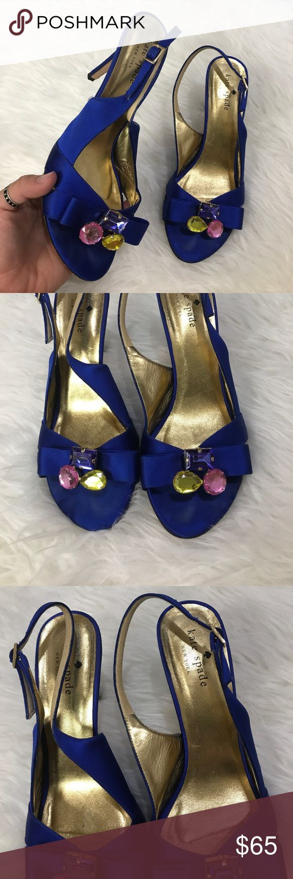 KATE SPADE SZ 7 COBALT BLUE HERLS SHOES CUTE PUMPS Awesome Kate spade pumps kate spade Shoes