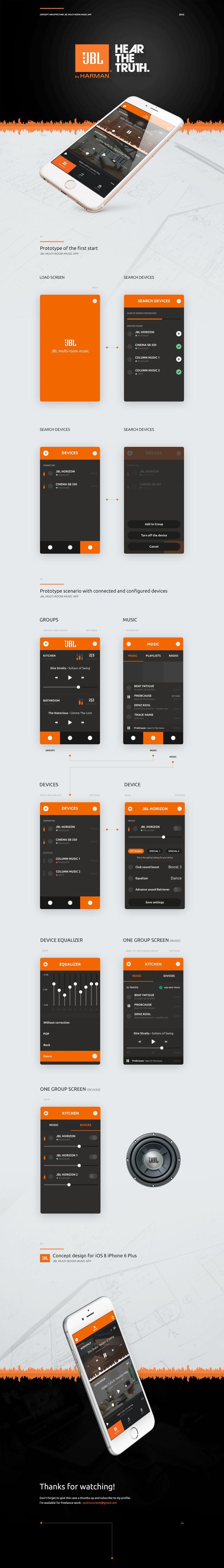 Concept JBL multi-room music app on Behance