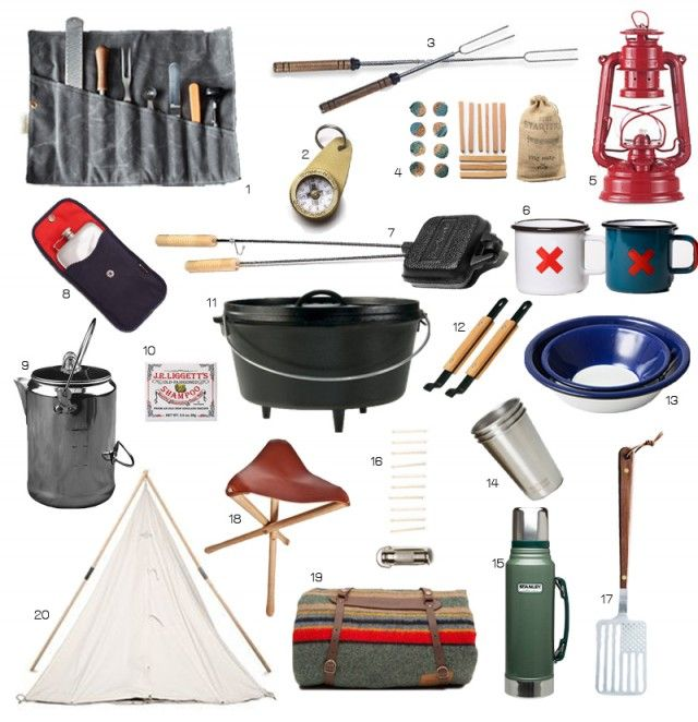 Even though I've been camping plenty of times, I've only recently started my own collection of camping gear. I have most of the essentials, but I always find myself wanting to add more things like a coffee percolator and marshmallow forks. You know, things that are very important to survival, such