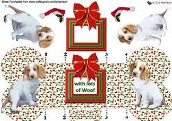 Welsh Springer Spaniel Christmas Bone shaped card on Craftsuprint - View Now!