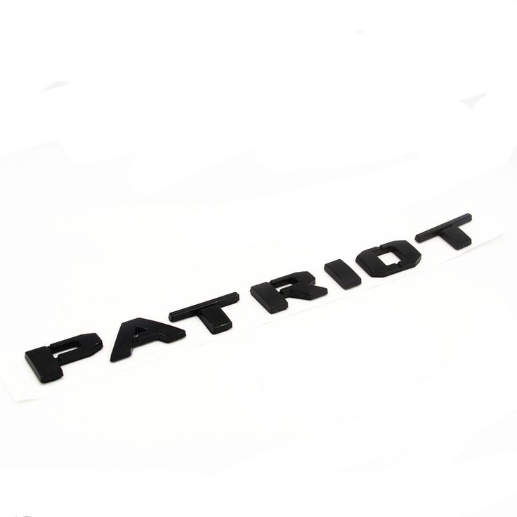 """==> [Free Shipping] Buy Best Gloss Black ABS Letters Word """" PATRIOT """" Car Trunk Badge Emblem Letter Decal Sticker for Jeep Patriot Online with LOWEST Price   32770352809"""