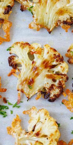 Parmesan Roasted Cauliflower – the most delicious cauliflower ever, roasted with butter, olive oil and Parmesan cheese. SO GOOD! – I Quit Sugar