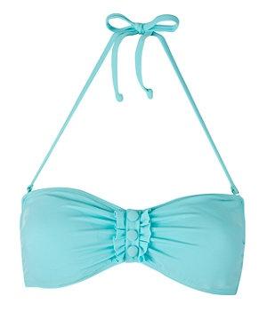 blue bandeau bikini