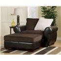 Voltage Casual Loose Pillow Back Chair and 1/2 and Extra Wide Ottoman by Signature Design by Ashley - Beck's Furniture - Chair & Ottoman Sacramento, Rancho Cordova, Roseville, California