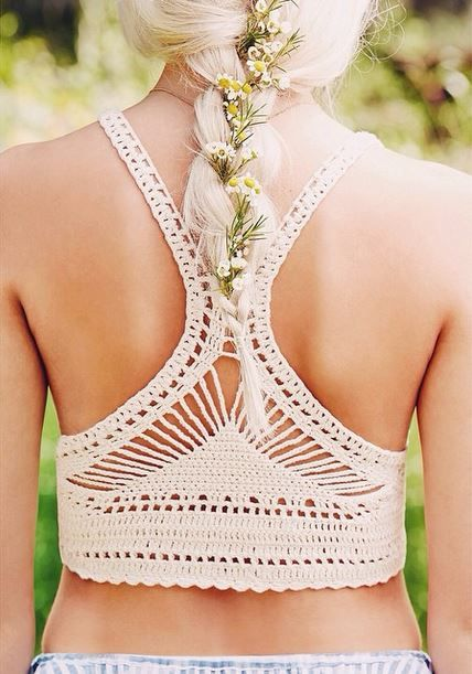 Crochet racer back top                                                                                                                                                                                 Más