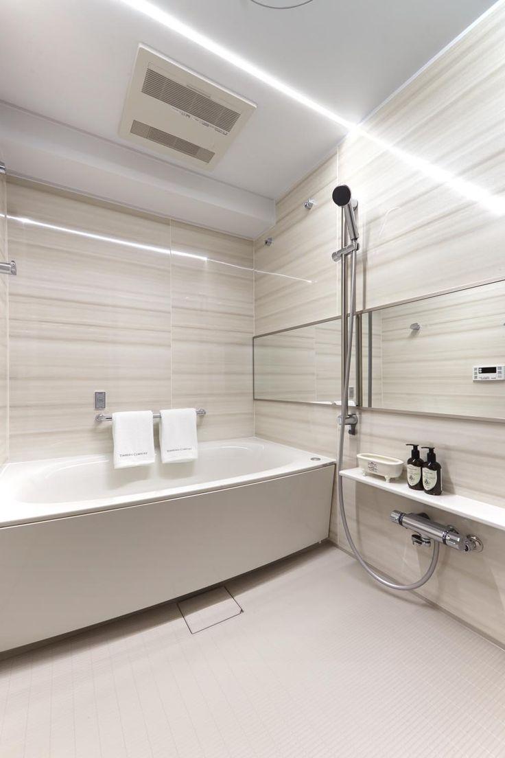 #LEDライン照明の浴室