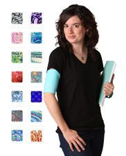 SleekSleeves Arm Band covers your PICC line dressing in unique, fun fabrics that help you look good and feel better.