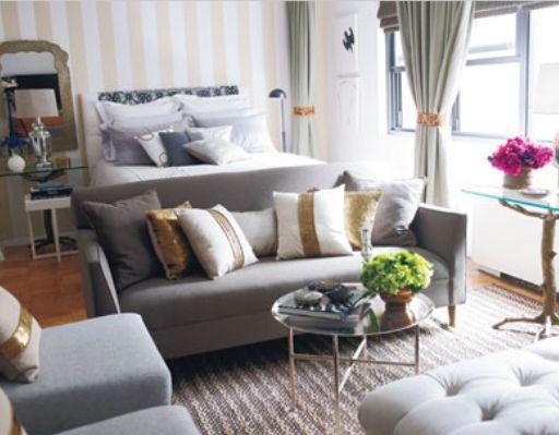 Nice Idea For Arranging Furniture In A Studio Apartment.  #studiobedroomfurniture
