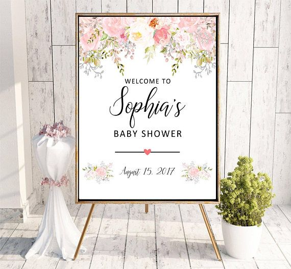 Welcome to Baby Shower sign Boho Printable Digital