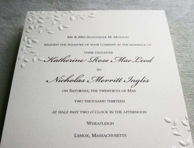 30 Exclusive Image Of Embossed Wedding Invitations Regiosfera Com Embossed Wedding Invitations Embossed Invitations Wedding Invitations