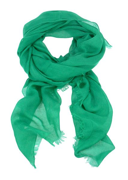Solid Colour Scarf - Green $44.95 #leethal #accessories #fashion