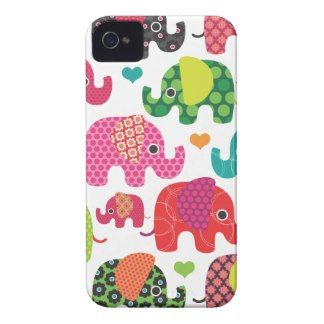 Colorful elephant kids pattern iphone case iPhone 4 covers