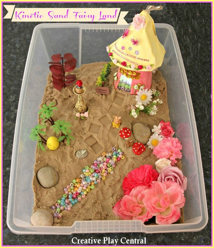 Picture 116 kinetic sand fairy land with title