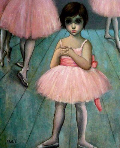 Keane Big Eyes Paintings 1961 | the ballerina by margaret keane