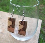 Dogwood tree branch earrings