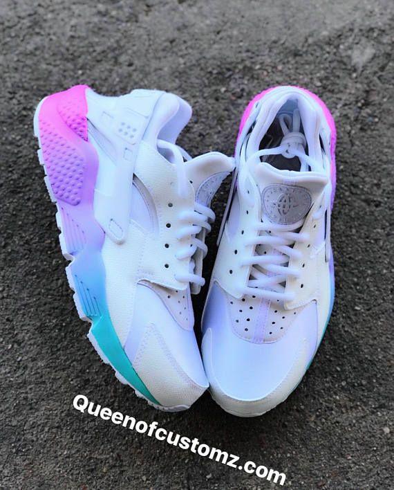 a040b8cdcd78 Unicorn Nike Huarache Custom White Nike Huaraches (AUTHENTIC) are used as  the base and