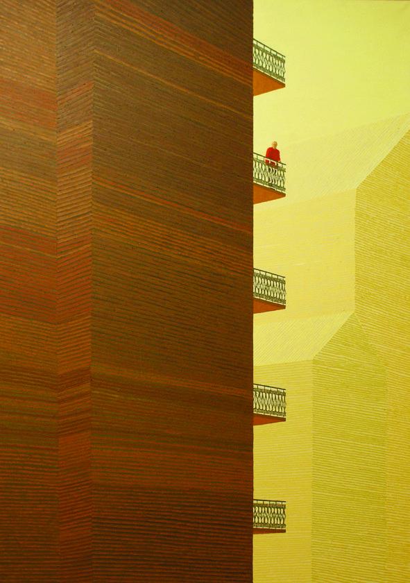 Dyju Dyjewska, 4th floor, oil on canvas, 185x130 cm,  2014/15