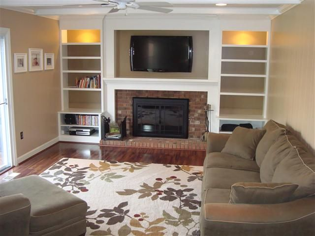 Shelving around fireplace. Nebulous Content  Non-Flammable Shelving