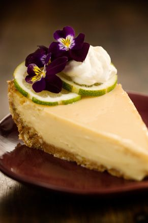 I consider myself a key lime pie expert. This is the BEST I have ever had. I have had a lot. Takes a while to squeeze the key limes but it is so worth it!! Put that sweetened heavy whipping cream on right before seving. WARNING: Your husband can eat a bowl of this stuff!!!  Paula Deen Bubba's Key Lime Pie