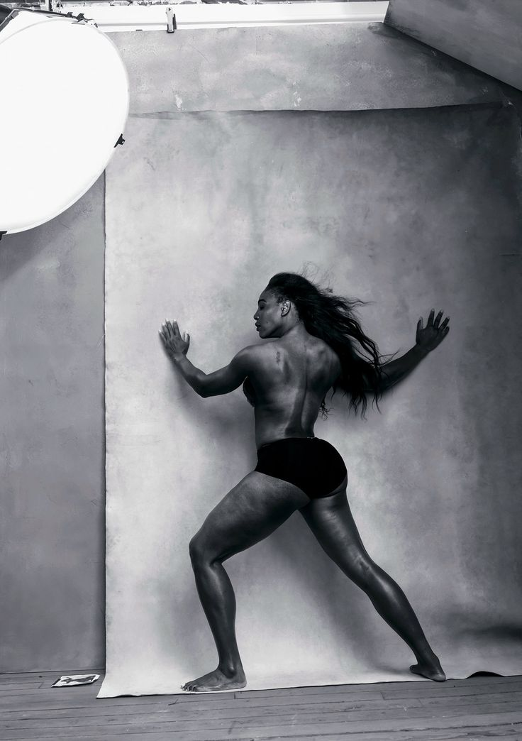 Next year's Pirelli calendar features photographs of notable women by Annie Leibovitz.  Serena Williams, April