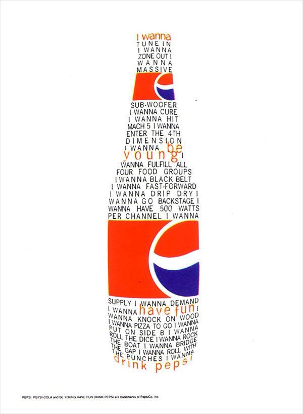 David Carson. Check out other great designers/design book must-haves on my guide . I think Carson used illustrator to create this image and recreated the pepsi labels and and used the option to type on path which I felt was a very nice effect.