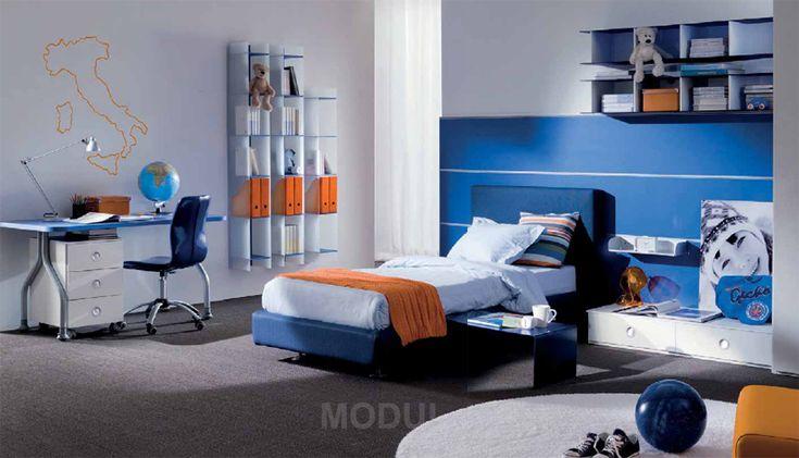 Спальня для мальчика-подростка в синих тонах Mariani PLUS09
