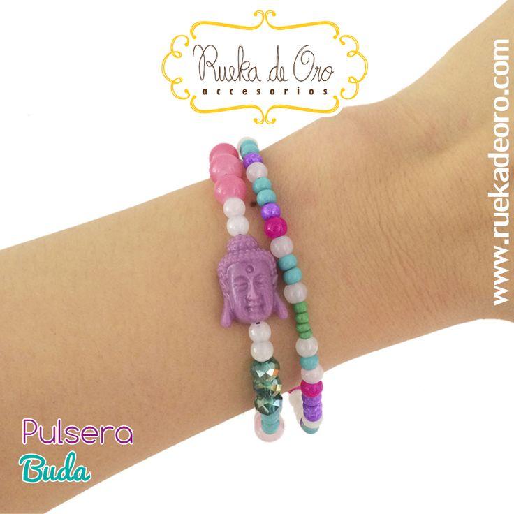 Pulsera Buda   Rueka de Oro accesorios www.ruekadeoro.com #accesorios #aretes #collares #pulseras #bolsos #cuellos #relojes #fashion #colombia #bogota
