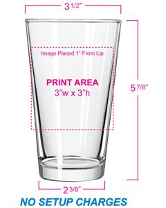 Personalized Pint Glasses and Custom Glassware Grandstand Sportswear and Glassware
